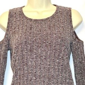 Hollister California Cold Shoulder Cable Sweater